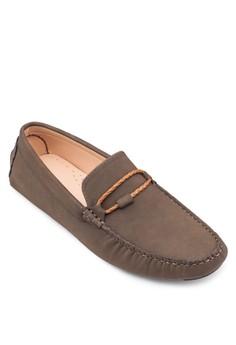 麂皮編繩莫卡辛鞋