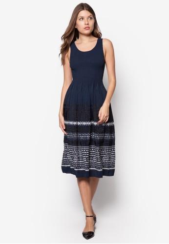 褶飾印zalora開箱花背心洋裝, 服飾, 夏日洋裝