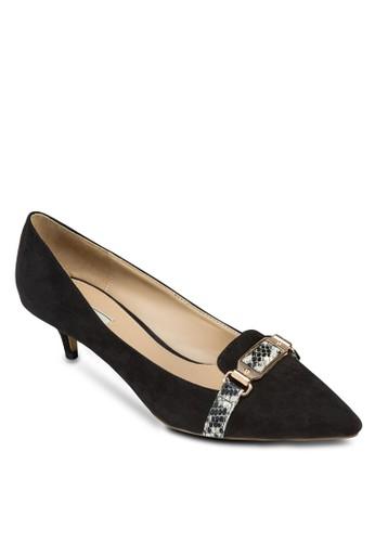 緞面閃飾zalora開箱細跟尖頭鞋, 女鞋, 高跟鞋
