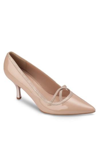 漆皮拼接尖頭高跟鞋, 女鞋, 厚zalora 心得底高跟鞋