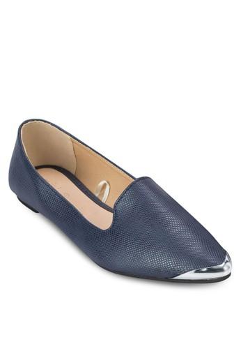 Tyrone 金屬zalora鞋尖頭平底鞋, 女鞋, 鞋