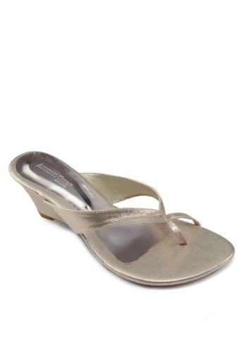 夾趾楔形跟涼鞋, 女鞋, 楔形zalora 鞋評價涼鞋