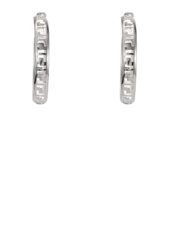 雕花圈形耳環zalora開箱, 飾品配件, 耳扣