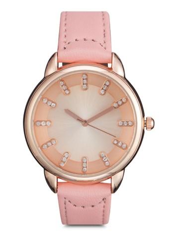 水鑽顯示指針圓錶,zalora鞋子評價 錶類, 其它錶帶