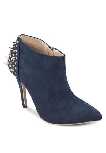 鉚釘高跟踝靴,zalora 鞋評價 女鞋, 靴子