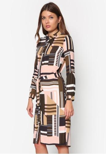 Selinzalora退貨a 及膝長袖襯衫連身裙, 服飾, 夏日洋裝