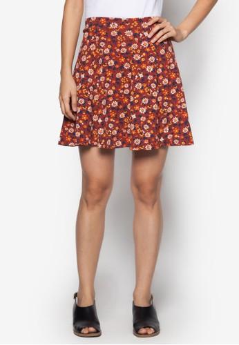 碎花傘狀短裙, 服飾zalora退貨, 服飾