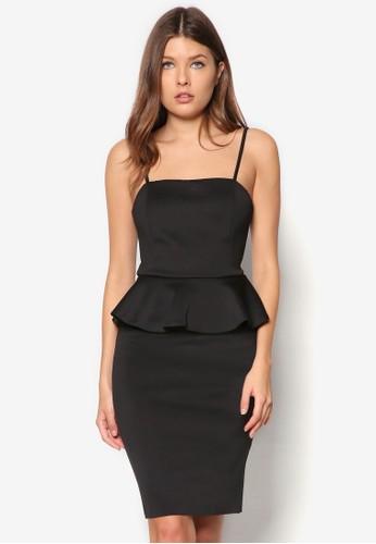 素色腰飾洋裝, 服飾, 服zalora退貨飾