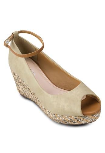 露趾編織楔zalora退貨形鞋, 女鞋, 厚底楔形鞋
