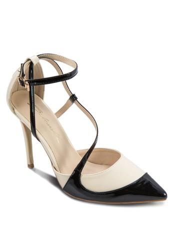 撞色繞踝細帶高跟鞋, 女鞋, 厚zalora 鞋評價底高跟鞋