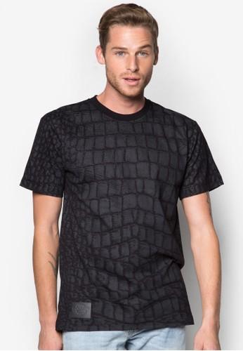 鱷魚紋圓領T 恤zalora 鞋評價, 服飾, 印圖T恤