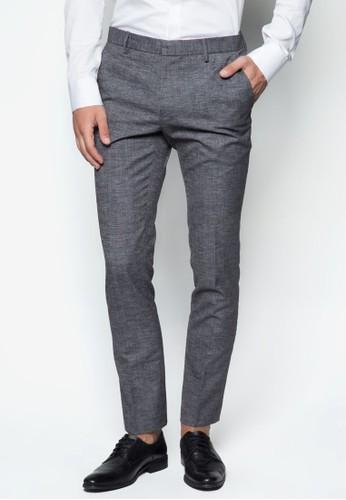 暗紋超貼身長褲, 服飾,zalora鞋子評價 服飾