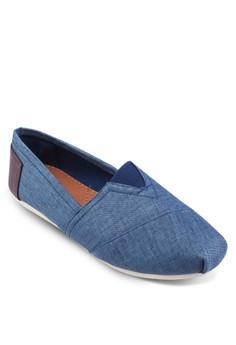 亞麻混紡懶人鞋