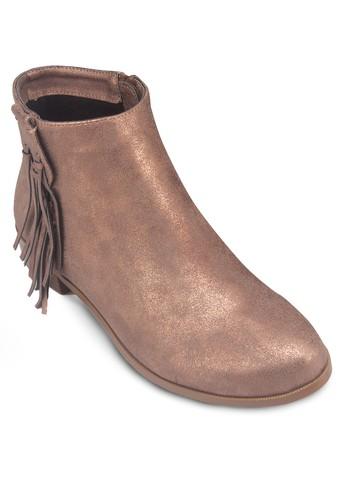 經典流zalora退貨蘇仿皮踝靴, 女鞋, 靴子