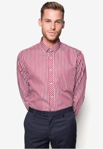 條紋商務襯衫, zalora 評價服飾, 印花襯衫