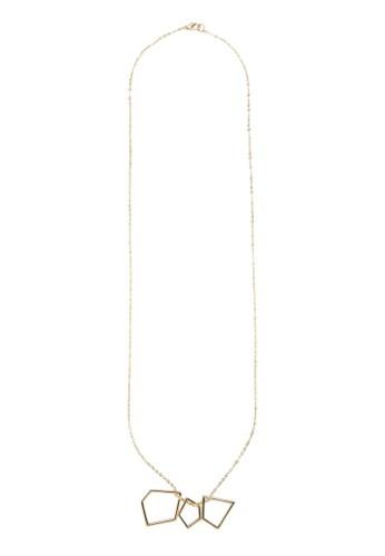 多邊形鏤空墜飾項鍊, 飾品配zalora 鞋評價件, 飾品配件