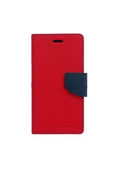 Mercury Goospery Fancy Diary for LG G Optimus Pro Case - Red/Navy