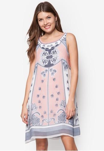 印花無袖連身裙, zalora鞋服飾, 夏日洋裝