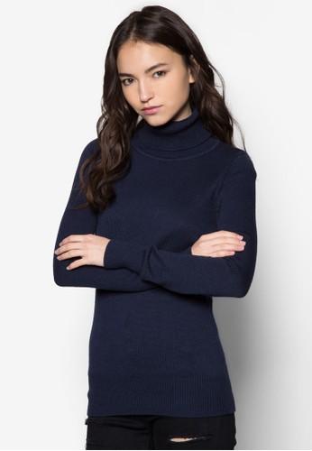 羊毛混紡高領織衫, 服飾, 毛衣& zalora 心得針織外套