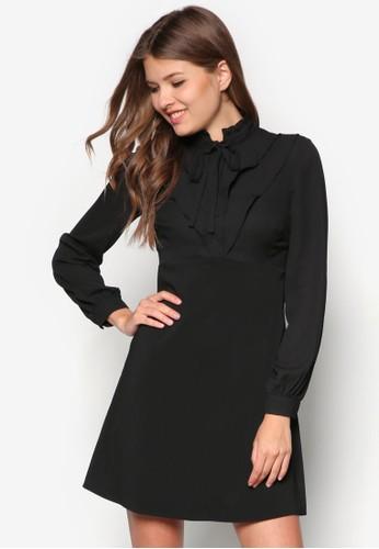 荷葉邊襯衫式洋裝,zalora退貨 服飾, 洋裝