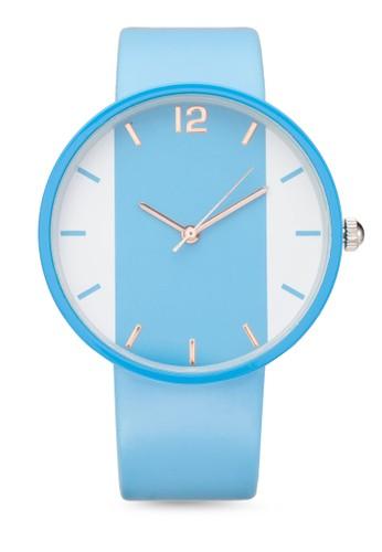 時尚雙色指針圓錶, 錶類zalora 鞋評價, 其它錶帶