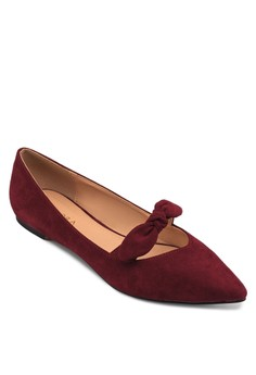 尖頭蝴蝶結平底鞋