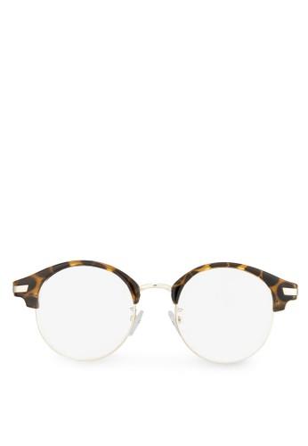 zalora鞋Bernerd 半框眼睛, 飾品配件, 眼鏡
