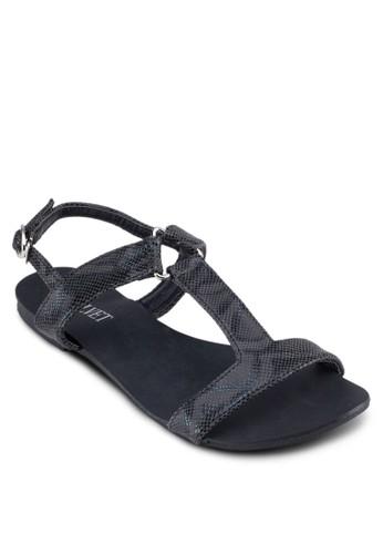 Shelia 工字帶繞踝涼鞋, 女鞋zalora 評價, 涼鞋