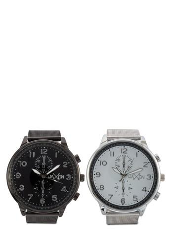 zalora開箱Duke 多錶盤數字情侶錶, 錶類, 不銹鋼錶帶