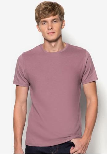 基本zalora開箱款暗紋TEE, 服飾, 素色T恤