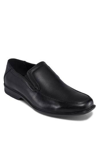 Denny 暗紋拼接船型鞋, 鞋,zalora 台灣 皮鞋