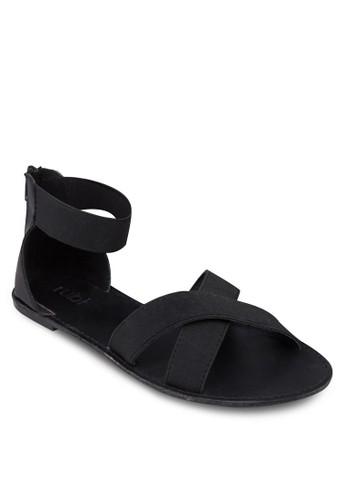 Ambezalora 心得r 彈性繞踝交叉涼鞋, 女鞋, 鞋