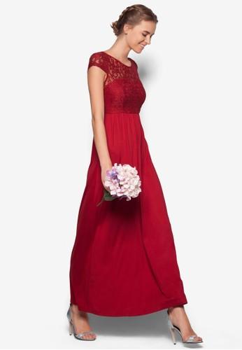 蕾絲拼接連身長裙, 服飾zalora鞋子評價, 晚宴禮服