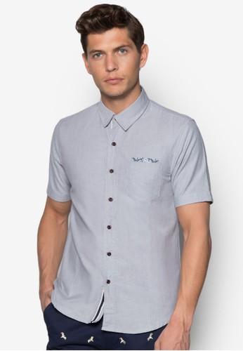 口袋短袖zalora 台灣襯衫, 服飾, 襯衫