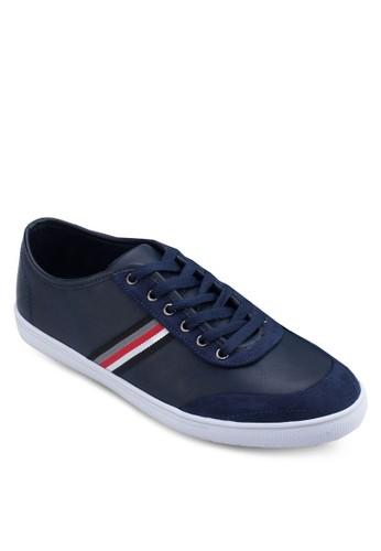 異材質羅紋邊飾運動鞋, 鞋, 休閒zalora開箱鞋