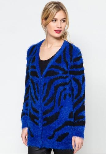 撞色條紋針織外套zalora 心得, 服飾, 服飾