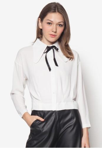 蝴蝶結長袖襯衫zalora鞋子評價, 服飾, 服飾