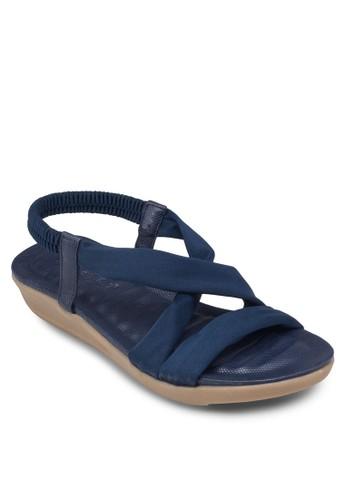 交叉繞zalora鞋踝彈性帶涼鞋, 女鞋, 鞋