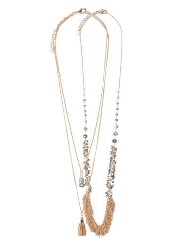 zalora開箱Choivia 二入吊飾項鍊, 飾品配件, 項鍊