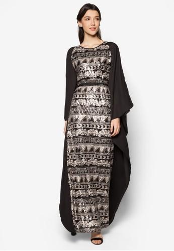 Aztec Sequin Kaftan, 服飾, zalora退貨Women's Muslim Wear
