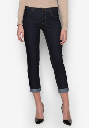 的Petite 反褶七分貼身牛仔褲, zalora 評價服飾, 緊身牛仔褲