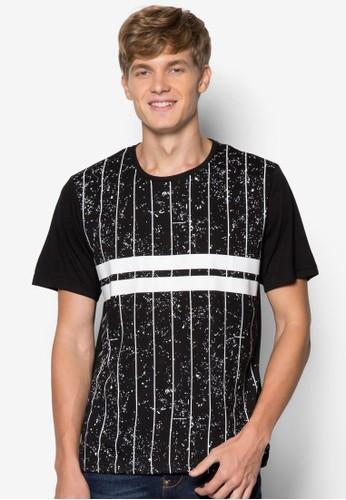 運動風設計TEE,zalora 心得 服飾, 條紋T恤