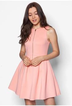 Love拉鏈修身洋裝