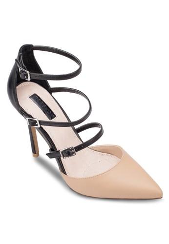 Giselle 扣環多帶尖頭高跟鞋, zalora 心得女鞋, 厚底高跟鞋
