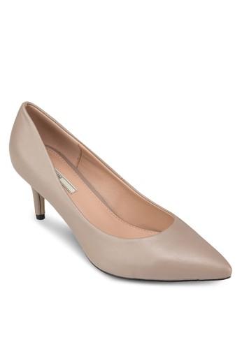 基本款zalora 心得尖頭高跟鞋, 女鞋, 鞋