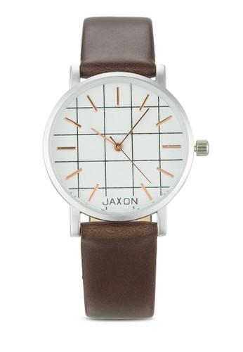 Neal 時尚格紋zalora 心得三指針手錶, 錶類, 其它錶帶