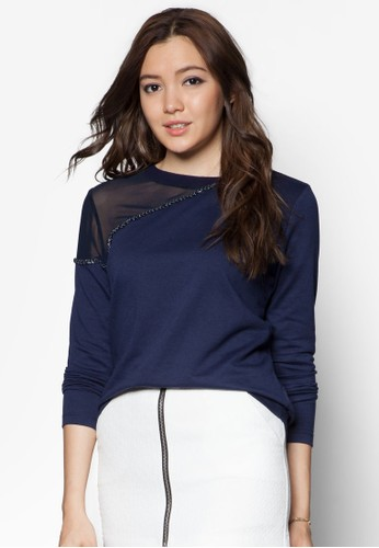 Something Borrowed Trim Insert Sweater Top