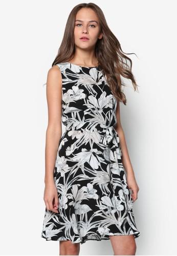 Petite 花色合身洋裝, zalora 鞋評價服飾, 洋裝