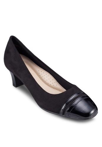 異材質拼zalora 台灣接中跟鞋, 女鞋, 鞋