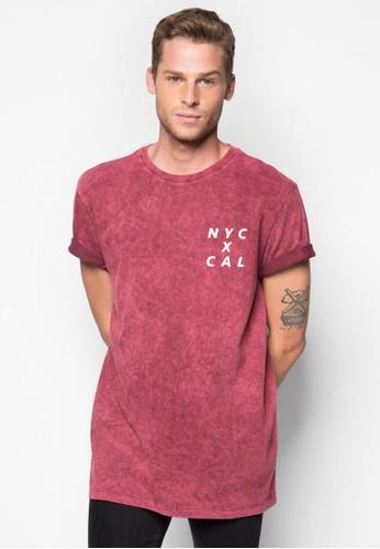 水洗設計TEE, 服飾, zalora鞋T恤